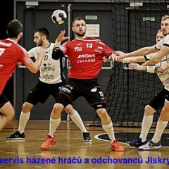 Aktuální výsledkový servis házené hráčů a odchovanců Jiskry (25. – 26. září)