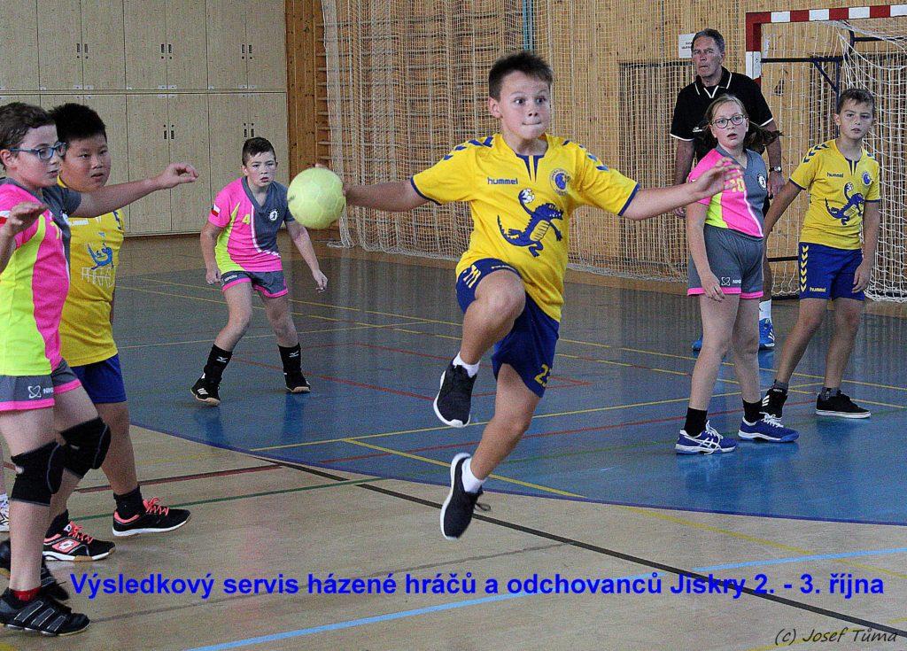 Aktuální výsledkový servis házené hráčů a odchovanců Jiskry (2. – 3. října)
